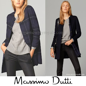 Crown Princess Mary Style Massimo Dutti Reversible coat
