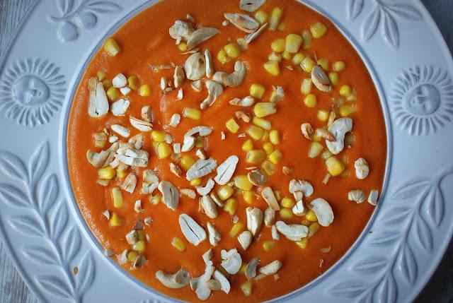 krem z batata,batat,marchewka,kasza jaglana,detoks,kukurydza,orzechy nerkowca,Symbio,pomidory z puszki,pomidory,daktyle