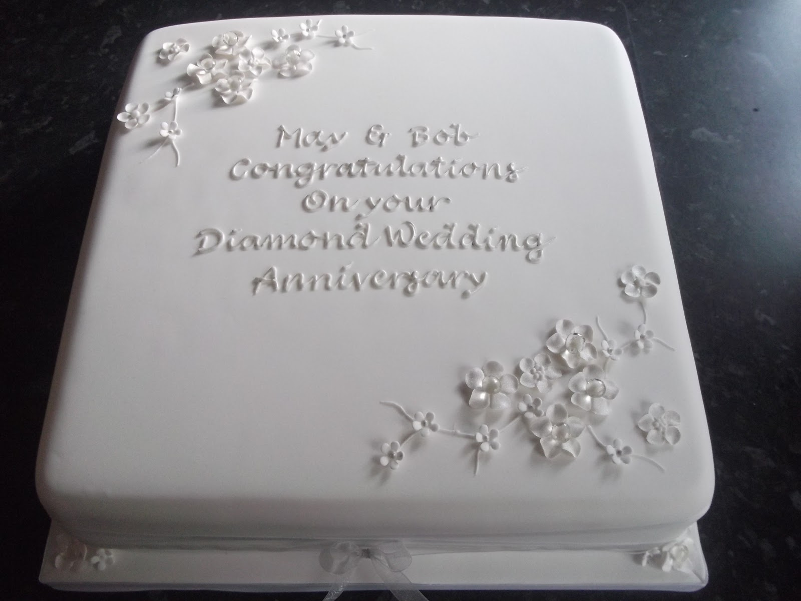 Cake Designs For Diamond Wedding : Cakes By Karen: Diamond Wedding Anniversary Cake