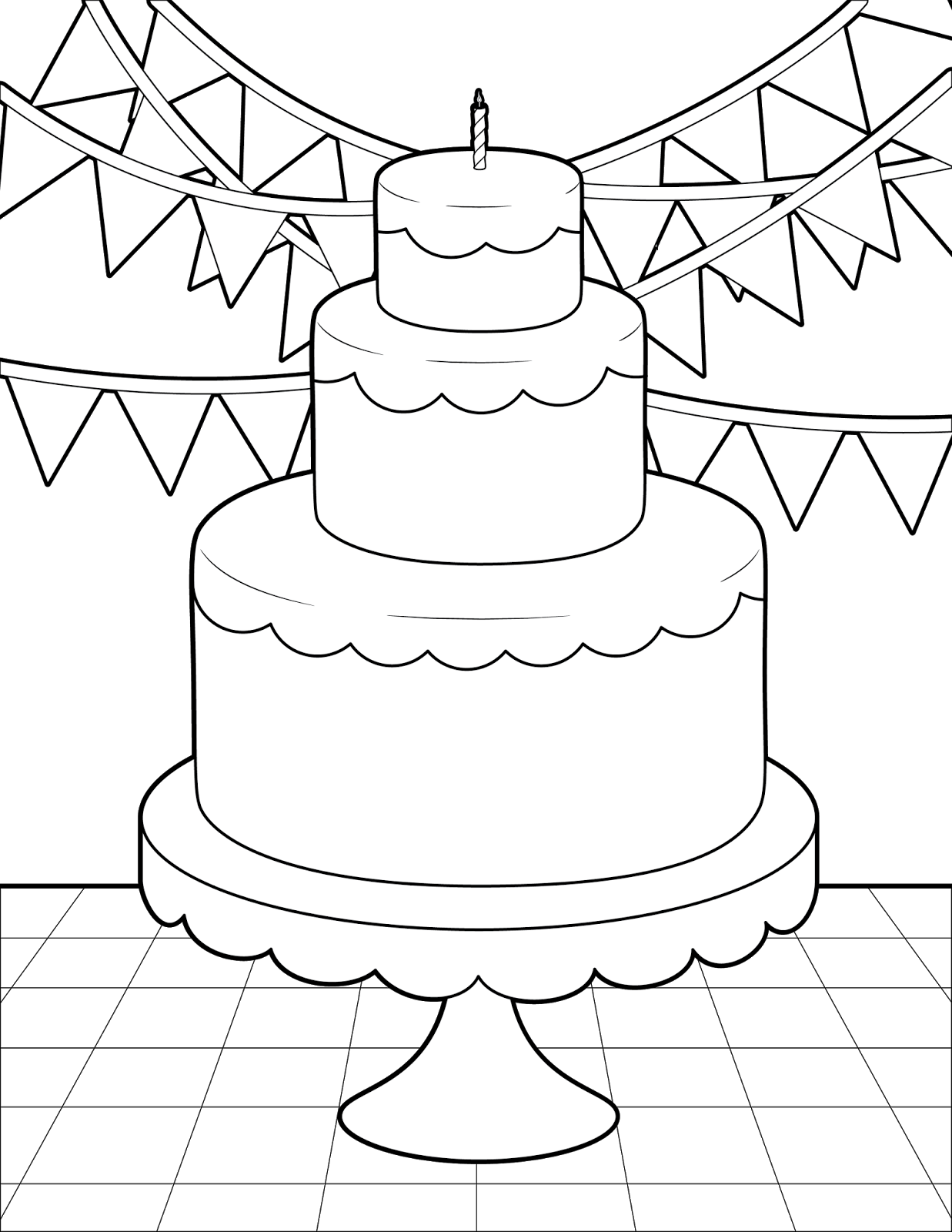 the spinsterhood diaries thursday coloring page birthday cake