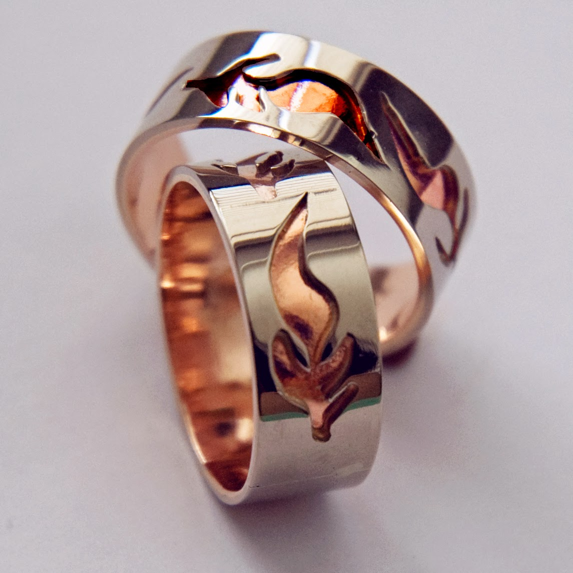 Anishinaabe-style wedding rings Fires by Zhaawano | Fisher Star ...