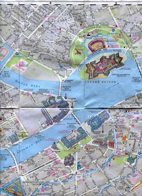 Туристическая карта Санкт Петербурга