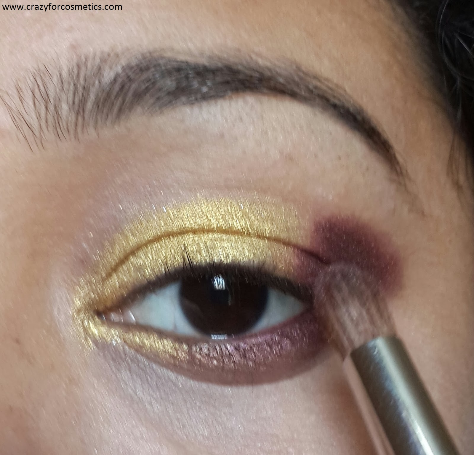 arabic glittery eyeshadow tutorial
