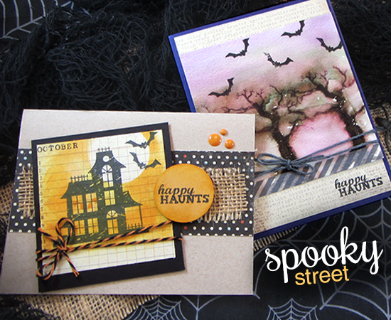 Spooky Street Stamp set by Newton's Nook Designs - Halloween Cards by Jennifer Jackson