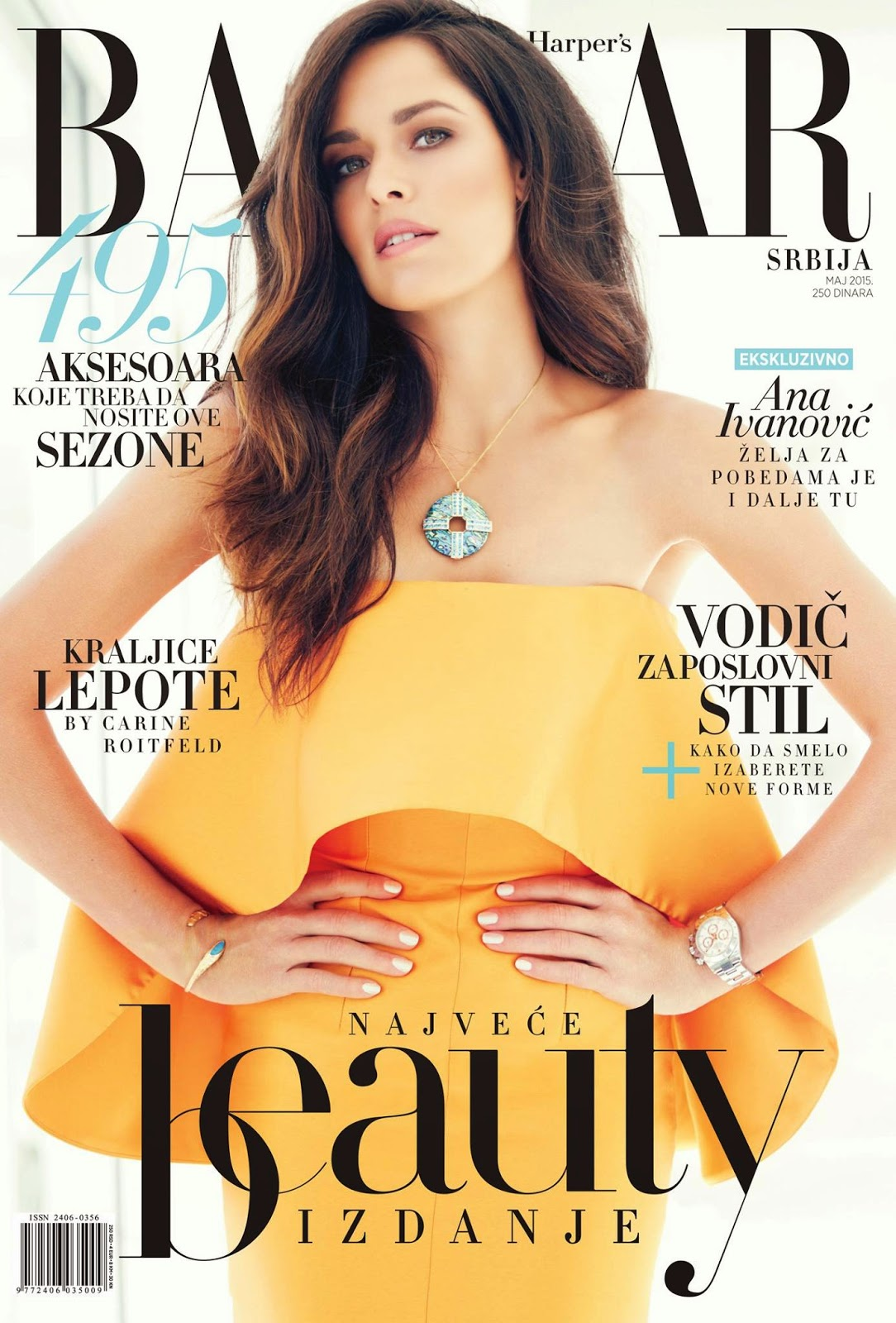 Tennis Player @ Ana Ivanovic by John Russo for Harper's Bazaar Serbia, May 2015