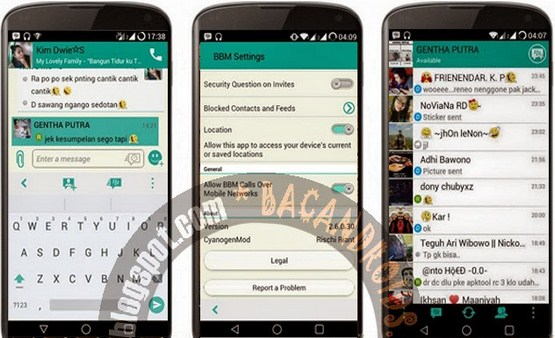 Free Download 5 BBM MOD Terbaru For Android