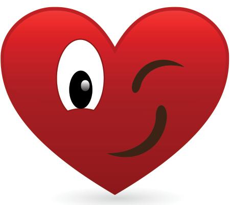 Winking heart icon