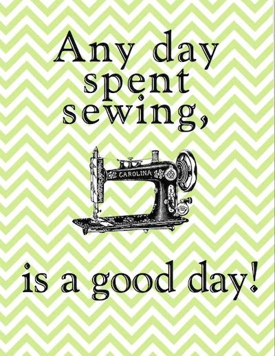 Sewing mends the soul!
