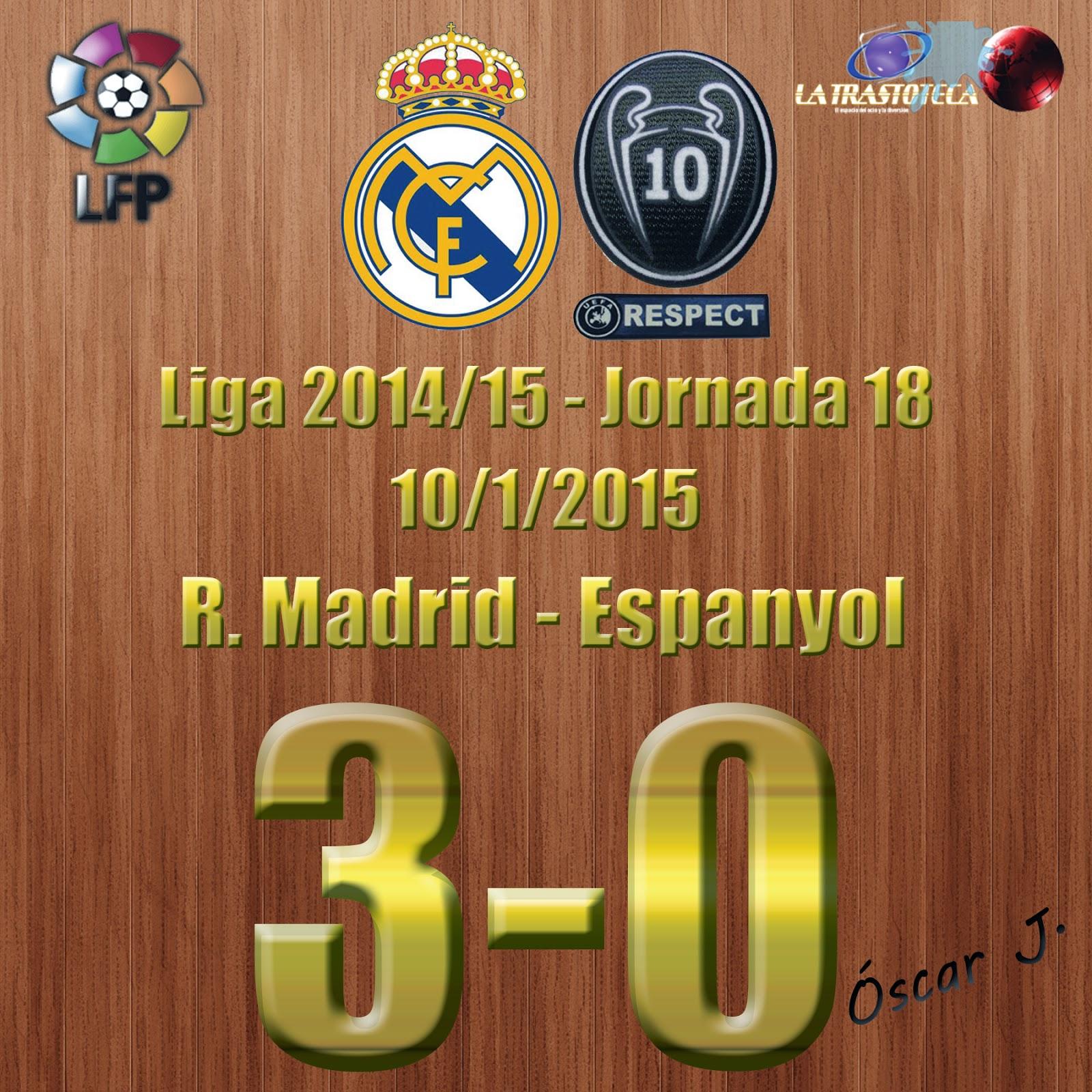 Gareth Bale (2-0) - Real Madrid 3-0 Espanyol - Liga 2014/15 - Jornada 18 - (10/1/2015)