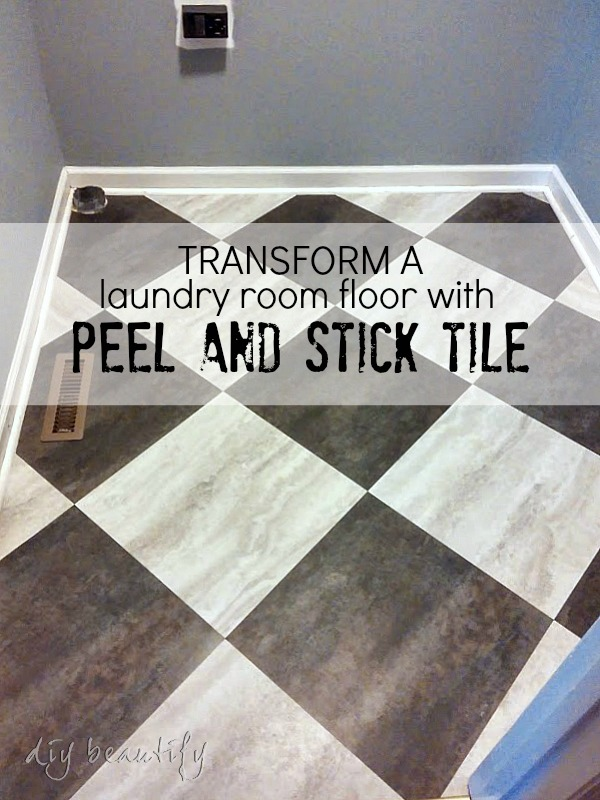 peel and stick floor tiles in laundy