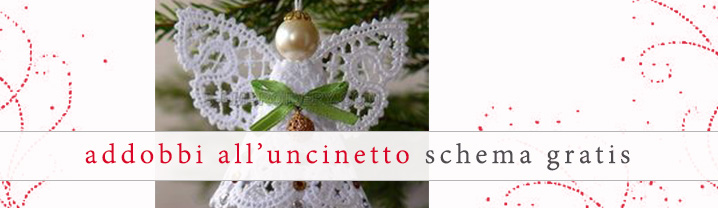 Addobbi natalizi all 39 uncinetto schema gratis di un angelo for Addobbi natalizi all uncinetto