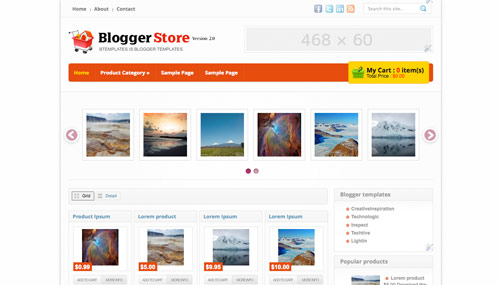 Store Blogger Templates Premium Blogspot Template for Online Shop & Amazon | Learning & Sharing