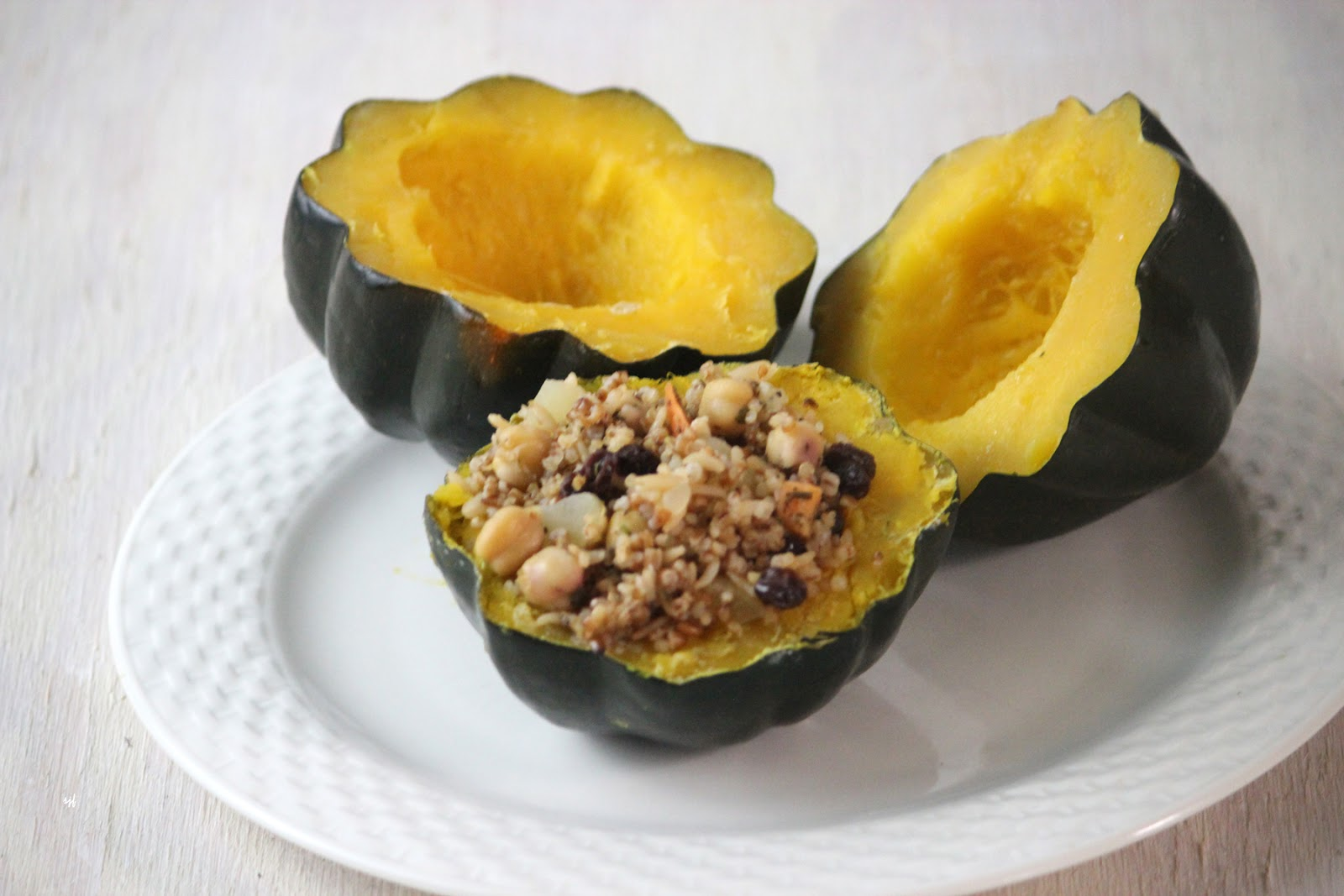 how to cook an acorn squash diced