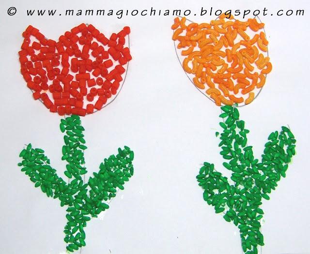 Mamma giochiamo lavoretti di primavera tulipani con la for Lavoretti di primavera