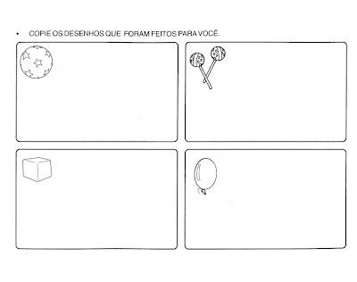 Atividades para o maternal e Educação Infantil - Copie os desenhos