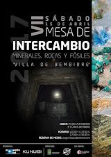 """VII MESA DE INTERCAMBIO DE ROCAS, FÓSILES Y MINERALES """"VILLA DE BEMBIBRE 2017"""" 15 DE ABRIL"""