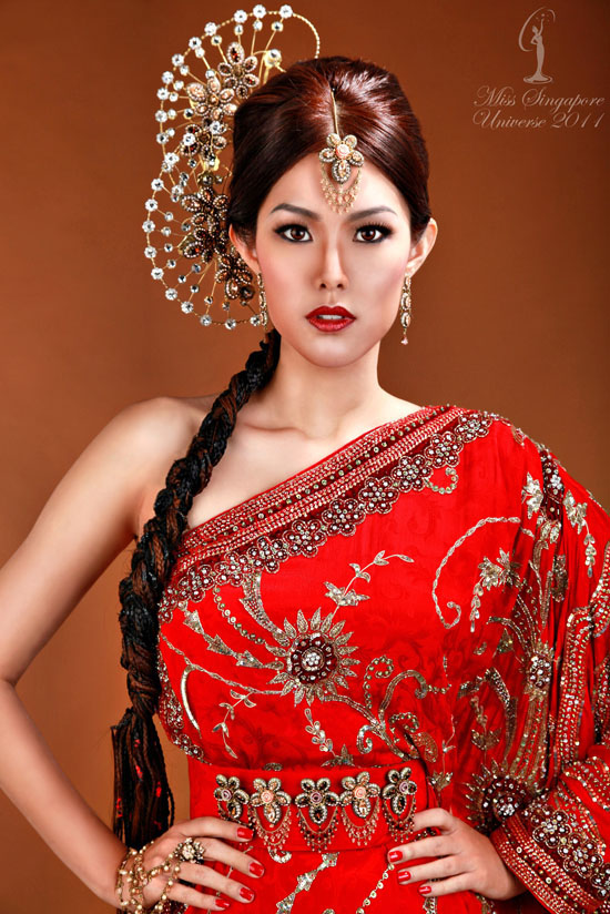 Beauty And Sexy Girl Miss Singapore Universe 2011 National Costume