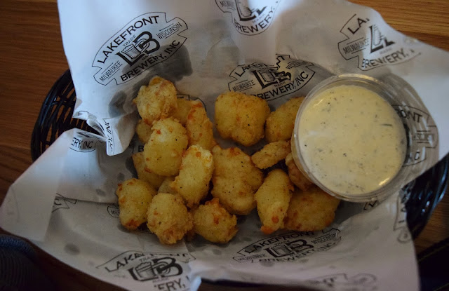 Lakefront Brewery, Milwaukee, cheese curds