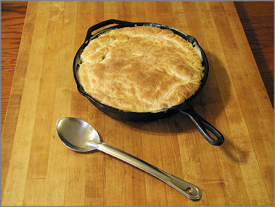Chicken Skillet Cobbler