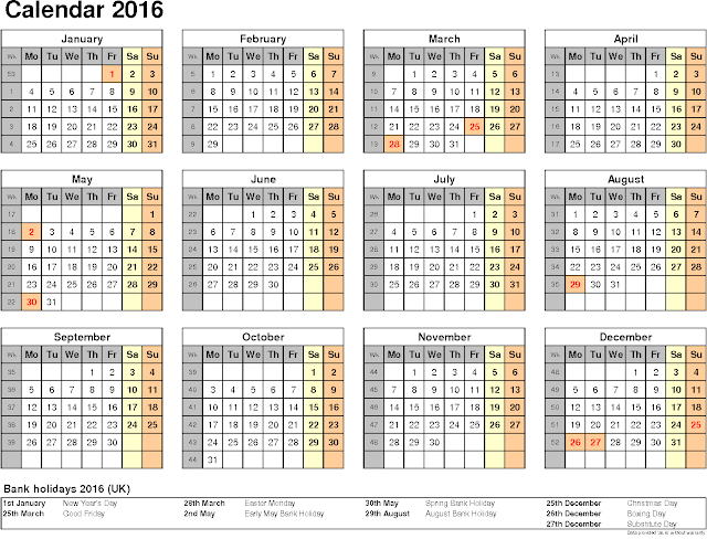 ... 2016 Desk Calendar with Holidays, 2016 Cute Calendar Free, 2016