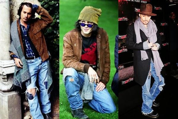 estilo grunge jonny depp