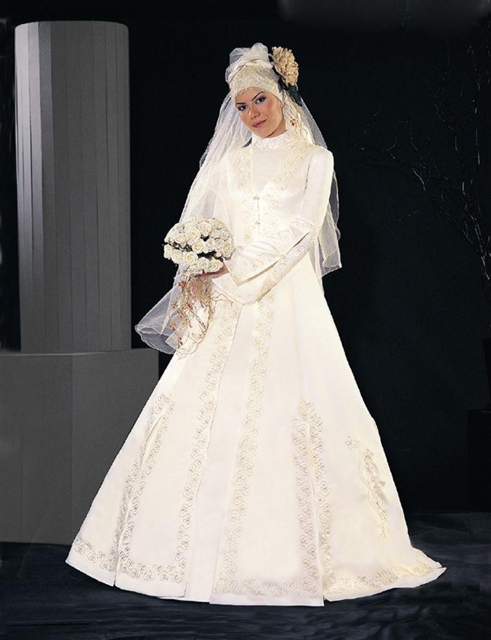 Hair styles islamic wedding dresses for Dresses for muslim wedding