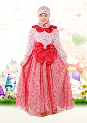 Grosir baju pesta muslim anak perempuan