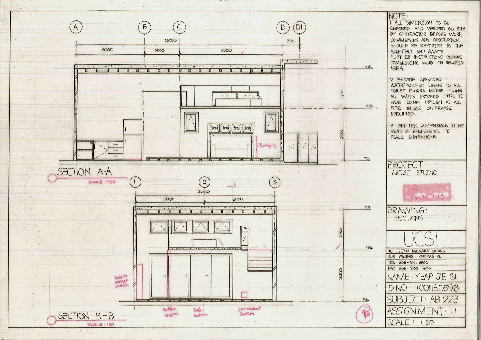 MASTER PIECE: ASSIGNMENT 1.2 - ORTHOGRAPHIC PROJECTION (INTERNAL ...