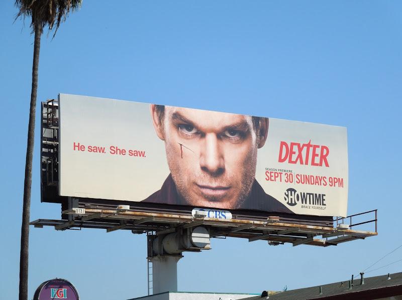 Dexter season 7 He saw She saw billboard