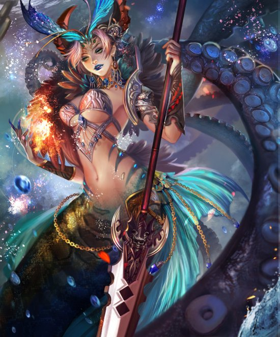 Yang Fan jiuge deviantart ilustrações fantasia mulheres fanart