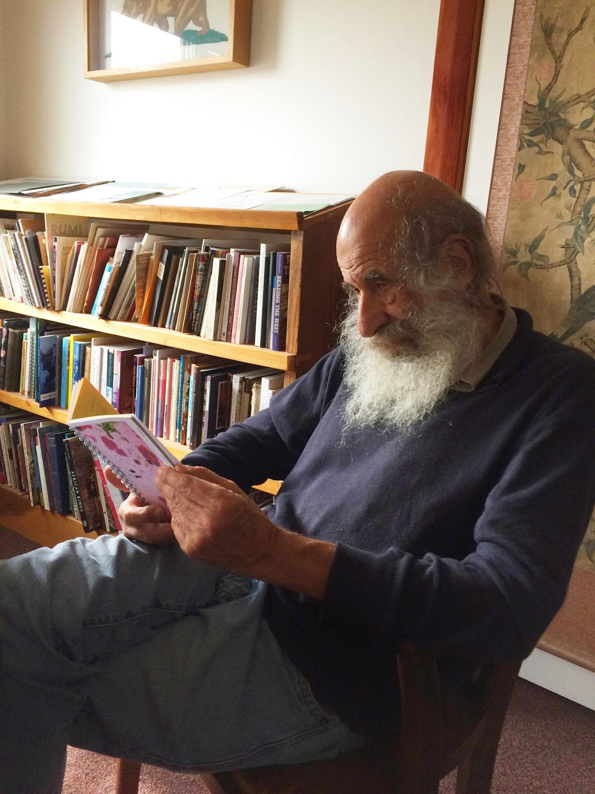 Malcolm Margolin reading  A Menu for Recognizing Invisible Forces by  Helena Keeffe and Jessica Prentice