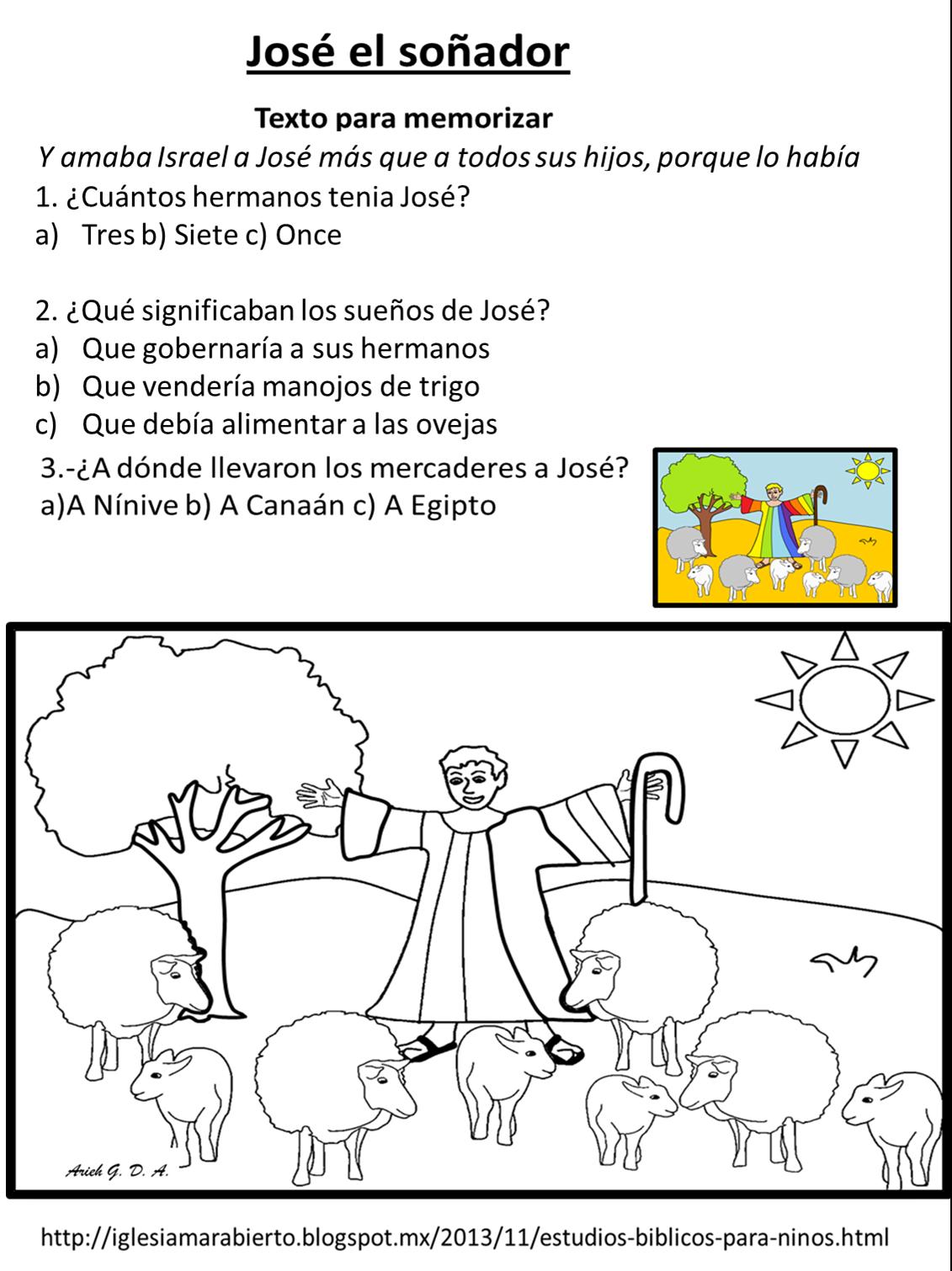 IGLESIA MAR ABIERTO: Estudio bíblico para niños - José el
