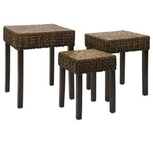 Vaneta Woven Nesting Tables, Lake House Furniture, Lake House Decor