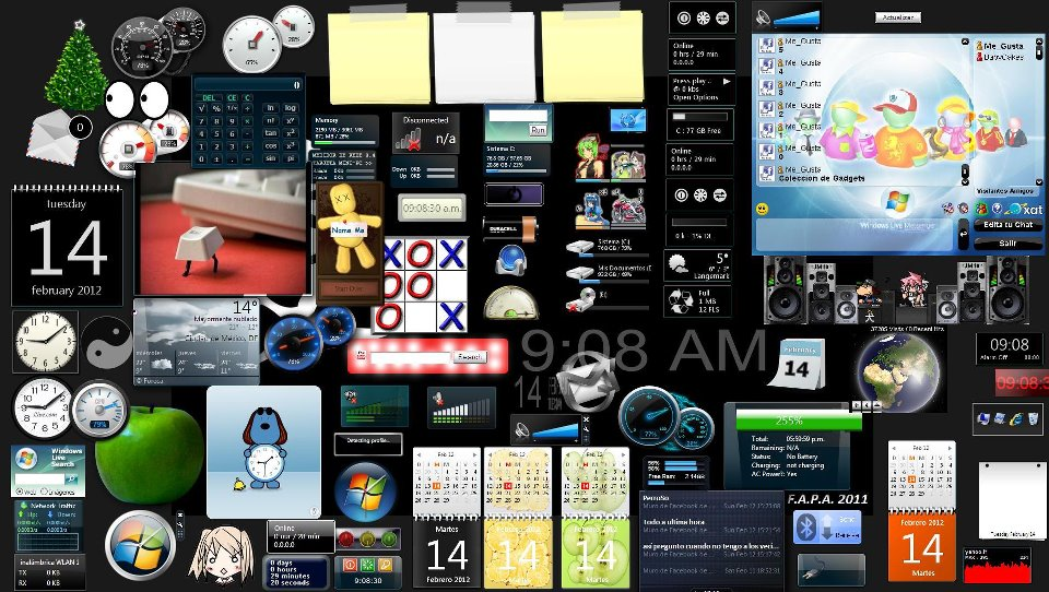 1000 gadget collection for windows 7 vista and xp