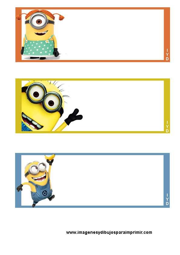 Etiquetas de minions para imprimir - Pegatinas pared infantiles disney ...
