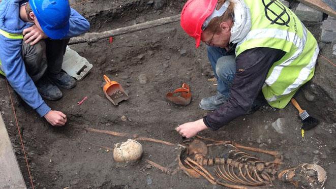 Quatre squelettes du Moyen Âge découverts en Irlande