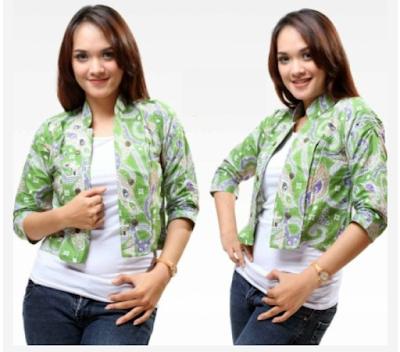 model baju batik lengan panjang wanita terbaru