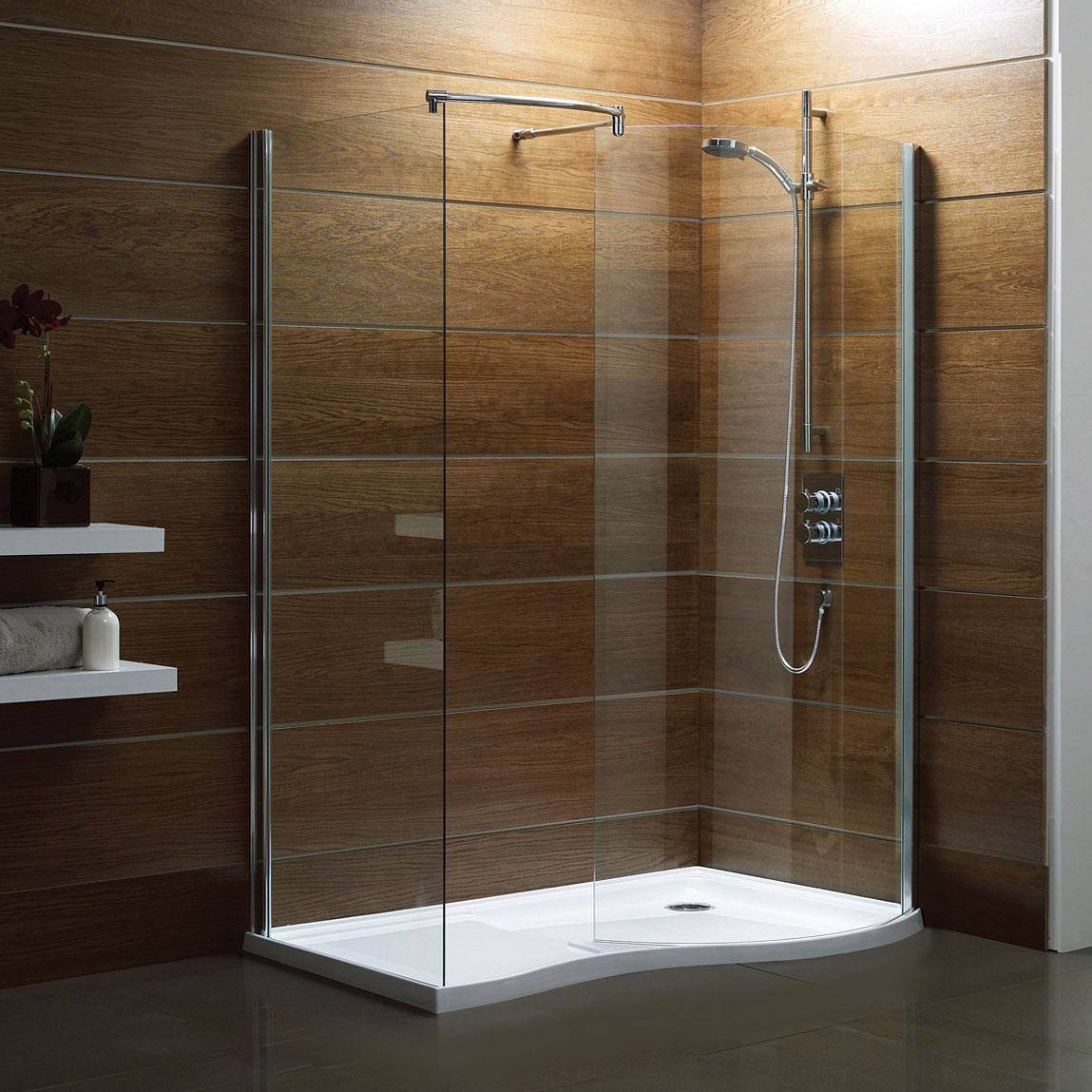 walk in shower that blends with all decor styles