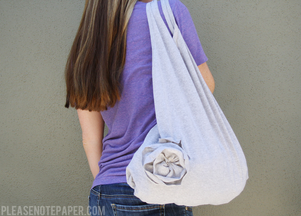 Please Note Diy Upcycled T Shirt Tote Bag