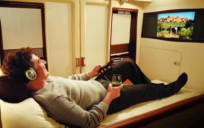 suite privada en Singapore Airlines