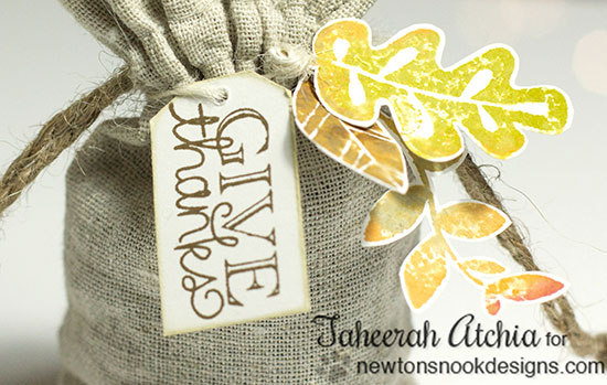 Fall treat bag by Taheerah Atchia for Newton's Nook Designs | Falling into Autumn Stamp Set