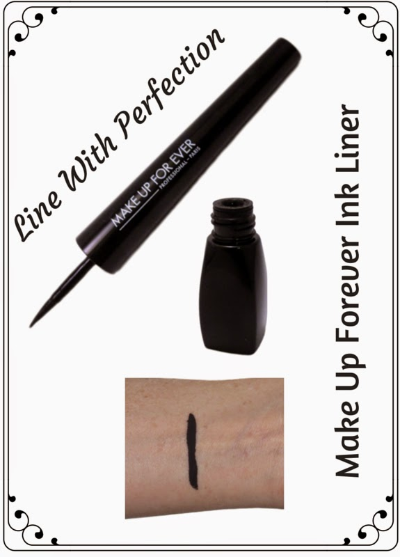 Trouble using liquid eyeliner?  Line With Perfection with Make Up Forever Ink Liner with calligraphy tip!