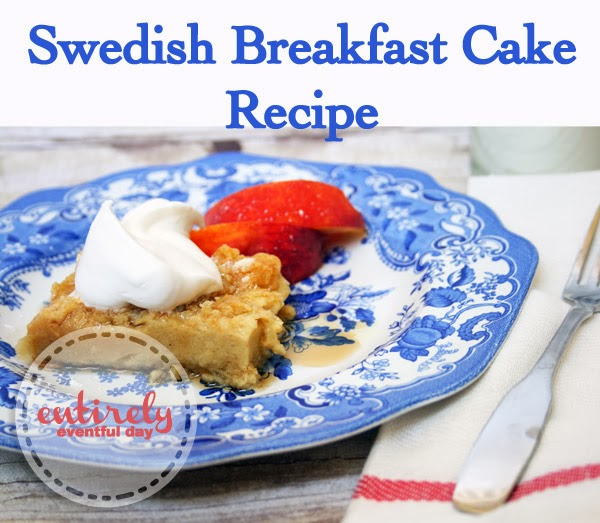 Swedish Breakfast Cake Recipe. Yummy breakfast that my kids love! #breakfast