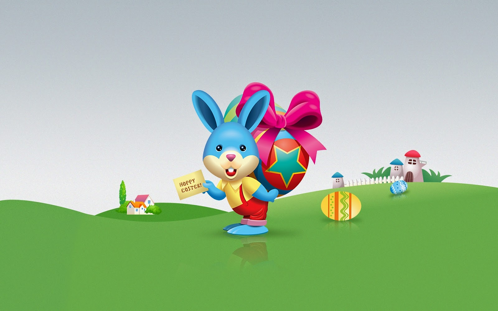 Fun Easter Bunny Cartoon Wallpaper