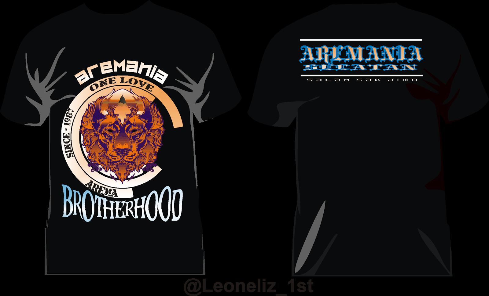 Contoh desain t shirt kelas - Design Baju Aremania 2016