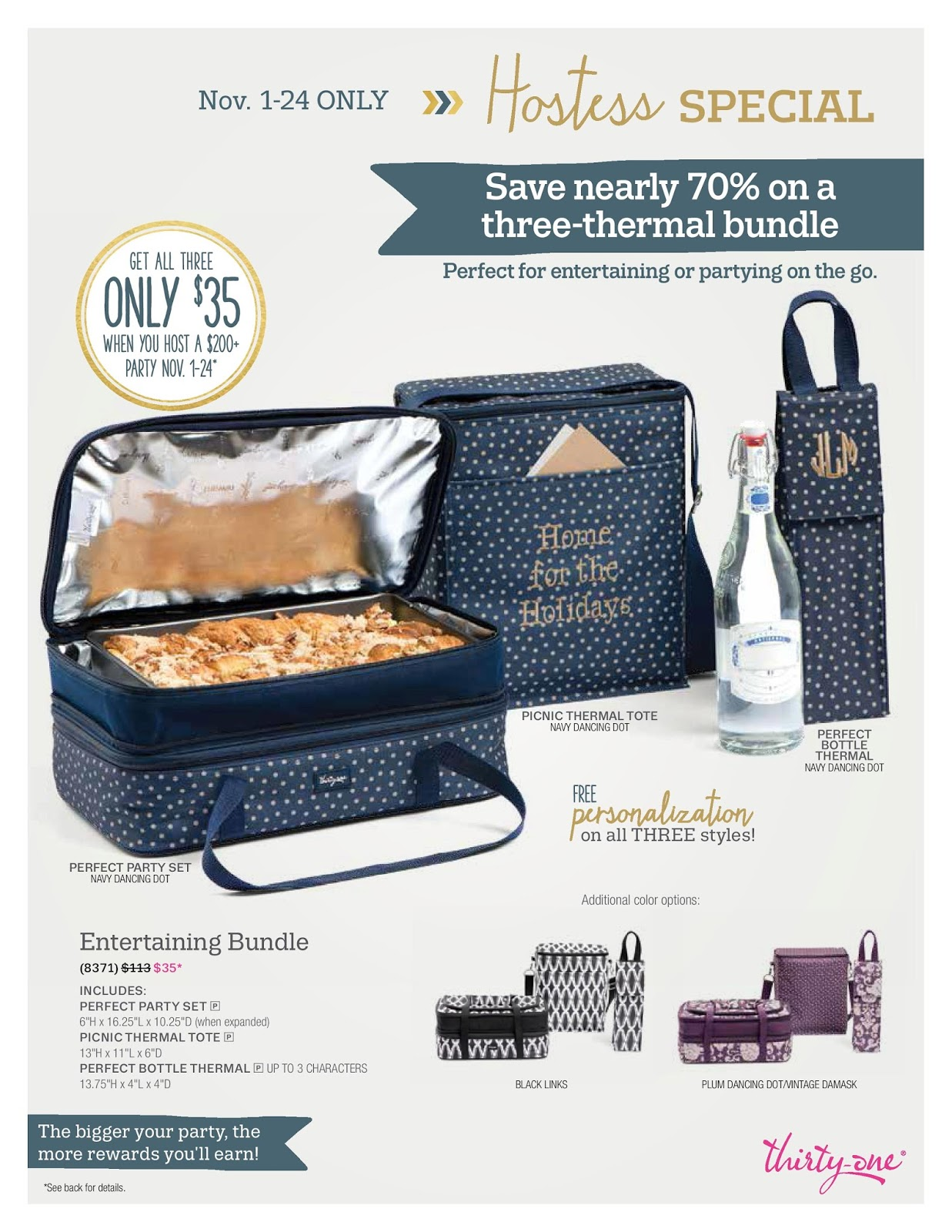 Thirty one november customer special 2014 - November Specials