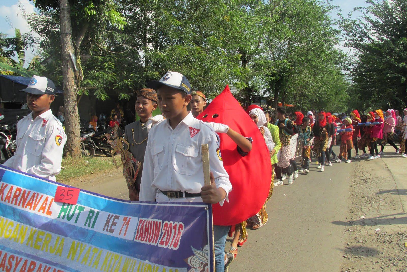 Kegiatan Karnaval di tingkat Kecamatan Sragi