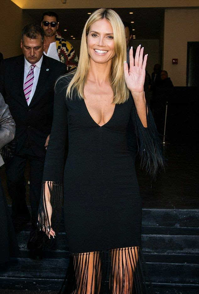 Heidi Klum was intent on being the centre of attention once again as she took to the event in New York on Wednesday, September 10, 2014.