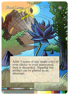 Black Lotus altered mtg Eric Klug klug alters Guru Magic  Guru Black Lotus Black Lotus mtg card Black Lotus Art altered mtg artwork Magic illustration klugalters magic the gathering black lotus