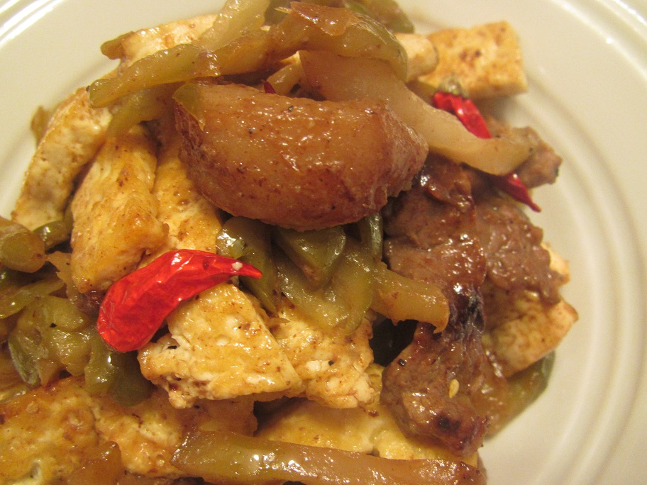 Stir Fry Tofu with Beef Chinese Mustard